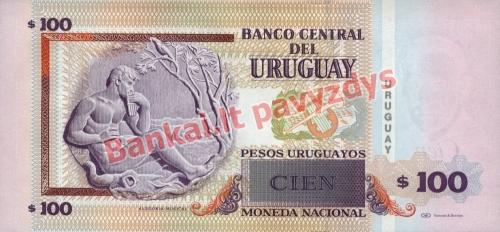 100 Pesų banknoto galinė pusė