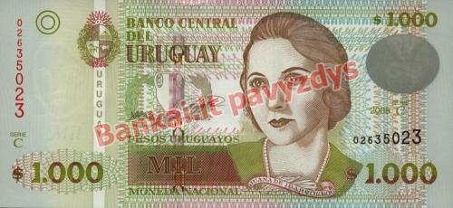 1000 Pesų banknoto priekinė pusė