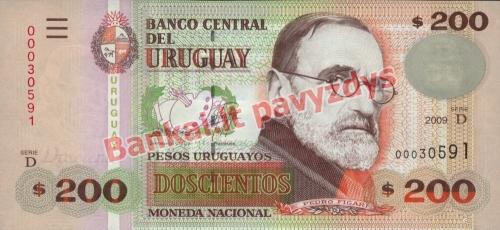 200 Pesų banknoto priekinė pusė