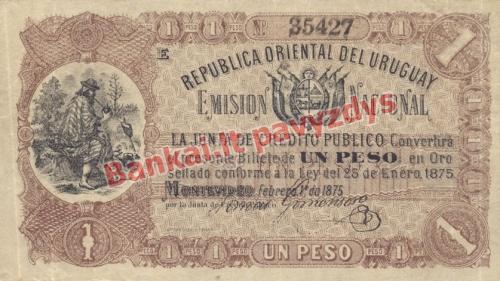 1 Peso banknoto priekinė pusė