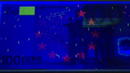 100 eurų ultravioletinis banknoto vaizdas