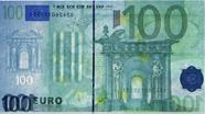 100 eurų vandens ženklas