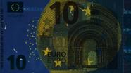 10 eurų ultravioletinis banknoto vaizdas Nr. 1