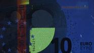 10 eurų ultravioletinis banknoto vaizdas Nr. 5