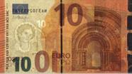 10 eurų vandens ženklas