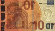10 eurų vandens ženklas kita pusė