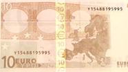 10 eurų blizganti aukso spalvos juostelė
