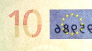 10 eurų sutapimo ženklas