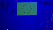 10 eurų ultravioletinėje šviesoje vėliava