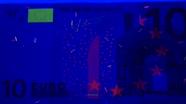 10 eurų ultravioletinis banknoto vaizdas