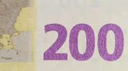 200 eurų spalvą keičiantis skaičius