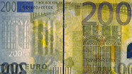 200 eurų vandens ženklas