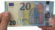 20 eurų nauji banknotai su nelygiu paviršiumi Nr. 2