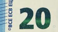 20 eurų smaragdinis skaičius