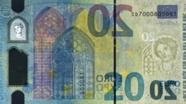 20 eurų vandens ženklas kita pusė