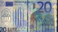 20 eurų vandens ženklas
