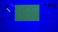 20 eurų ultravioletinėje šviesoje vėliava