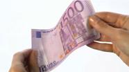 500 eurų banknotas turi šiugždėti