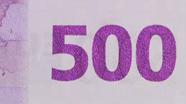 500 eurų spalvą keičiantis skaičius