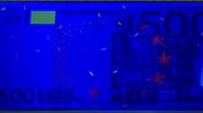 500 eurų ultravioletinis banknoto vaizdas