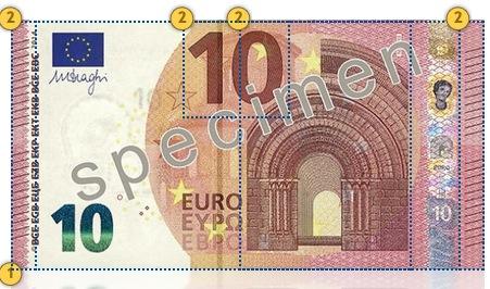 Naujas 10 eurų banknotas. Apčiuopkite.