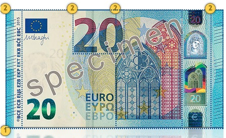 Naujasis 20 eurų banknotas. Apčiuopkite.