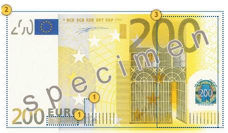 Papildomi apsaugos požymiai 200 eurų