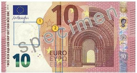 Naujasis 10 eurų banknotas. Pažvelkite.