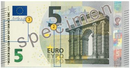 Naujieji 5 eurų banknotai. Pažvelkite.