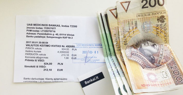 valiutos keitimo kaina