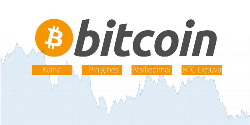 Bitcoin kaina Lietuvoje