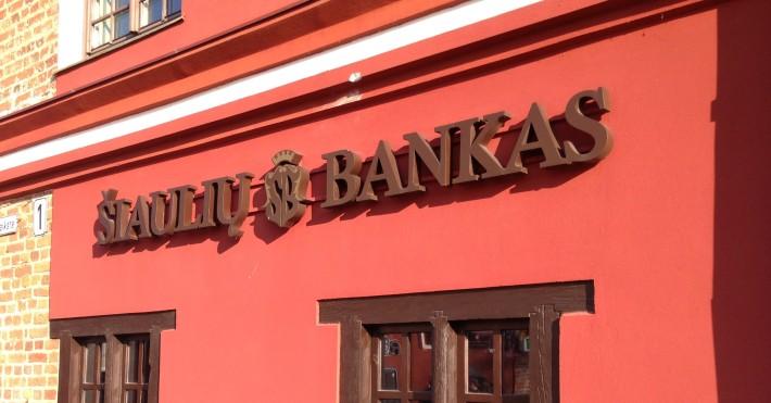 Šiaulių banko indėliai keitėsi balandį