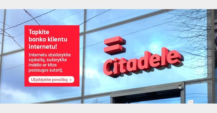 Citadele interneto naujovės