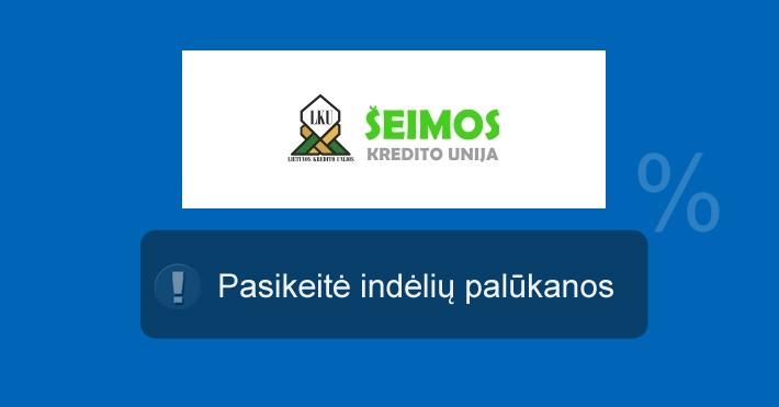 Šeimos kredito unijos indėlių palūkanos liepos 15 d.