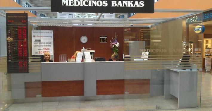 Medicinos bankas vekseliai