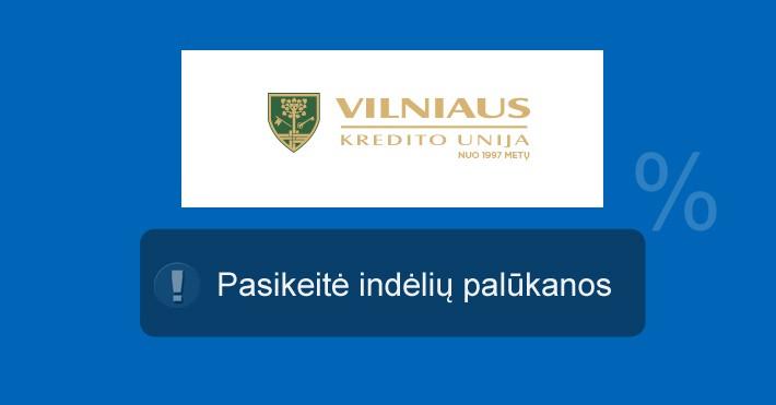 Vilniaus kredito unija indėliai