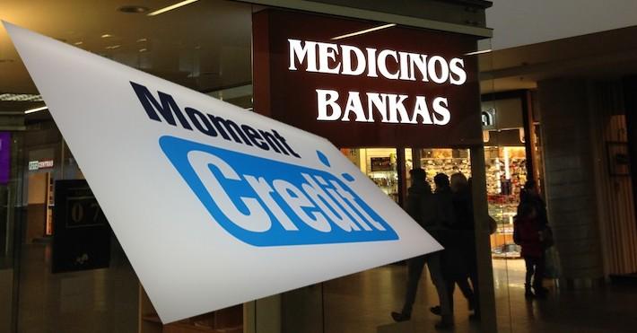 Moment credit ir Medicinos bankas