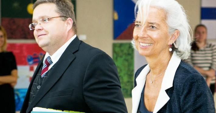 Christine Lagarde ir Vitas Vasiliauskas