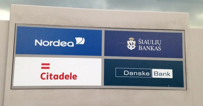 Bendras bankų Citadele, Nordea, ŠB, Danske bankomatas
