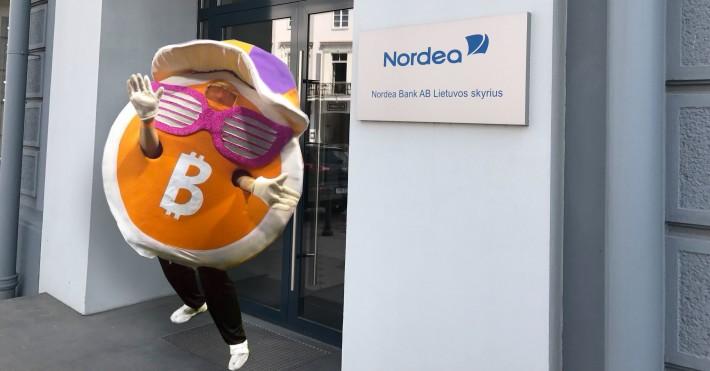Bitcoin kriptovaliutos neturės Nordea darbuotojai