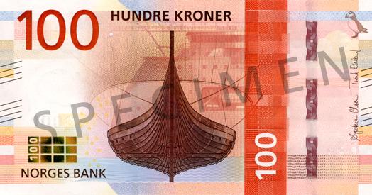 100 Norvegijos kronos