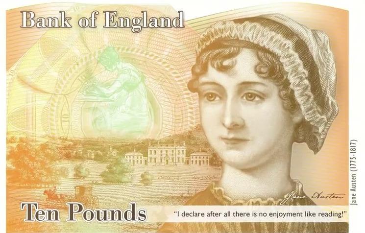 Jane Austen, 10 svarų banknotas