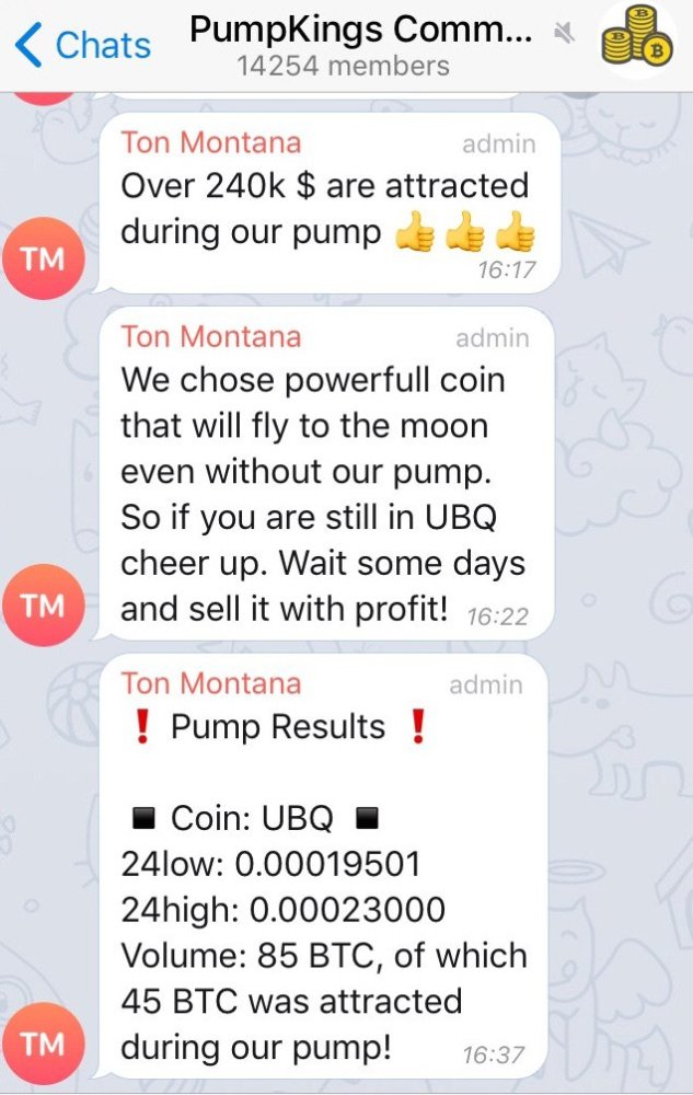Telegram pump and dump susirašinėjimas