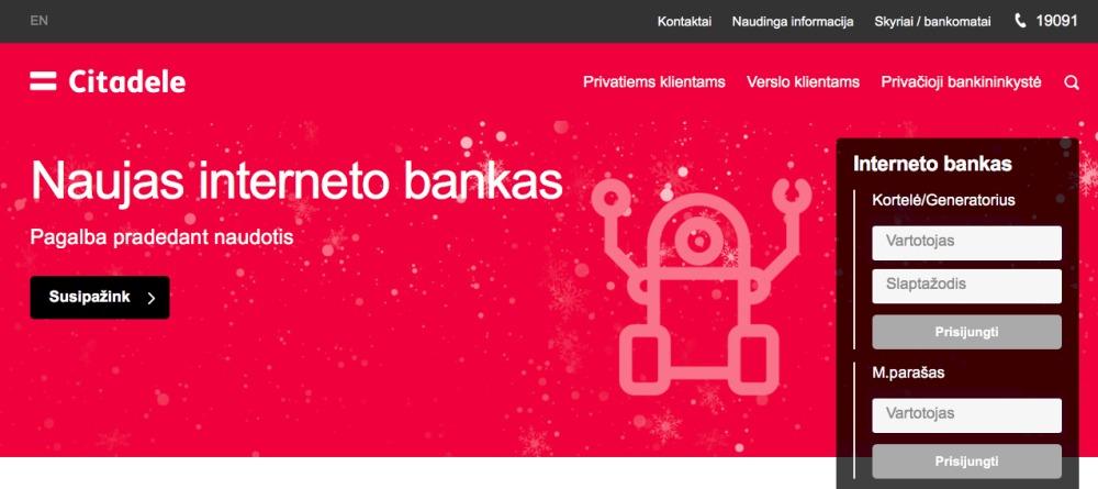 """""""Citadele"""" naujas interneto bankas ir IT klaidos"""