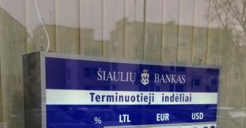 Šiaulių banko indėliai mini