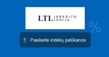 LTL kredito unijos indėliai mini