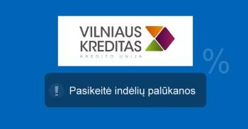 Vilniaus kreditas indėliai mini