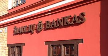 Šiaulių banko indėliai keitėsi balandį mini