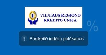 Vilniaus regiono kredito unijos indėliai mini