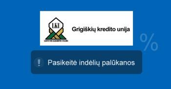 Grigiškių kredito unija indėliai mini
